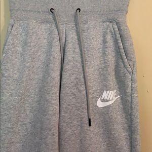 Gray Nike sweats